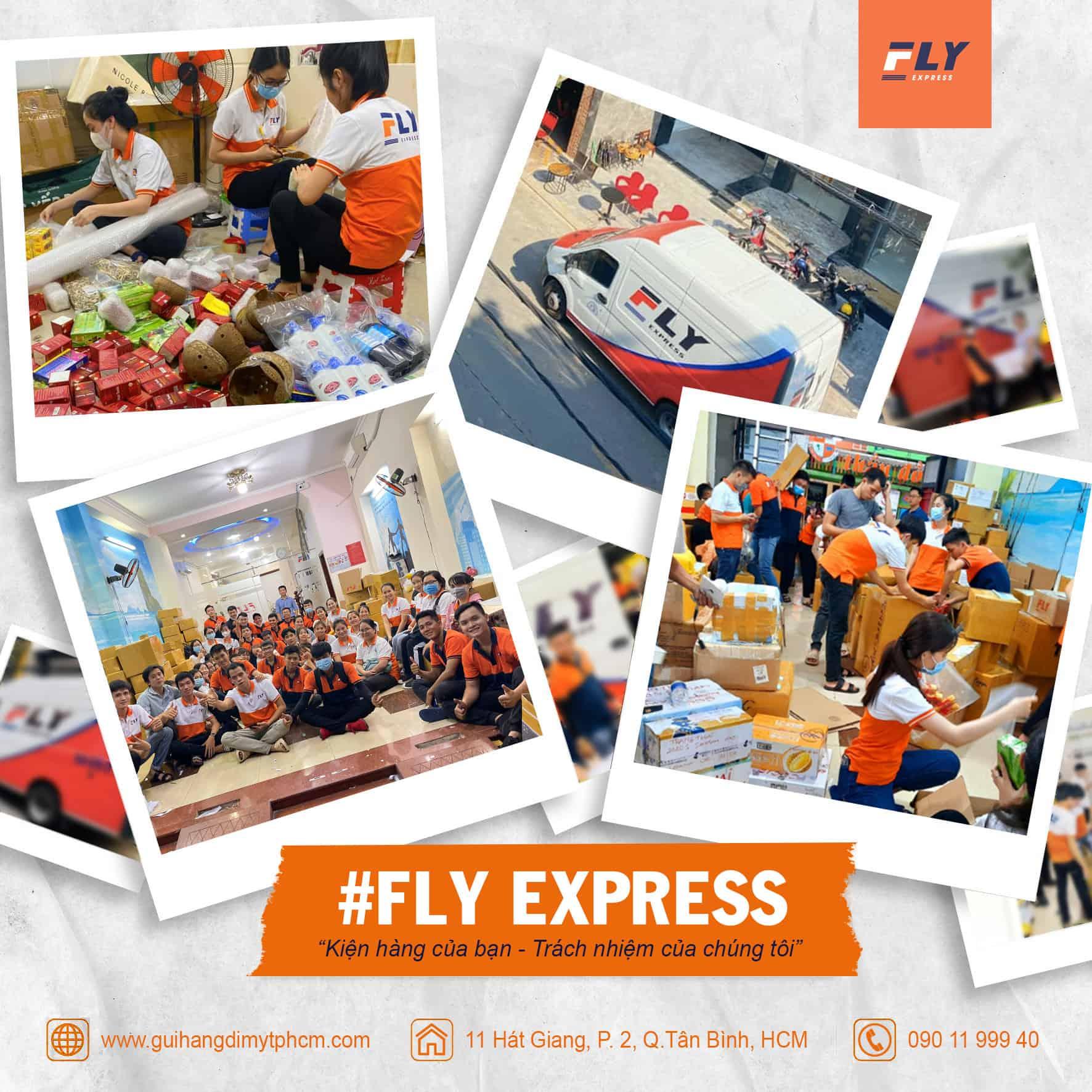 Gửi hàng đi Mỹ tại quận 7 của FLY Express