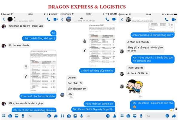 Một số đánh giá của những khách hàng đã sử dụng dịch vụ gửi hàng qua Mỹ của chúng tôi