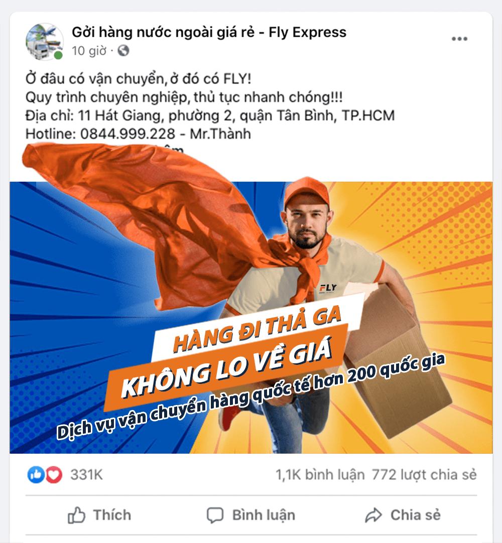 dịch vụ vận chuyển hàng quốc tế fly express