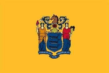 Lá cờ của bang New Jersey
